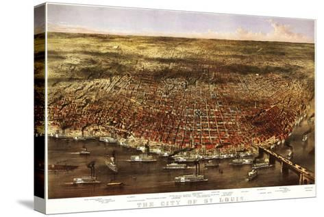 Saint Louis, Missouri - Panoramic Map-Lantern Press-Stretched Canvas Print