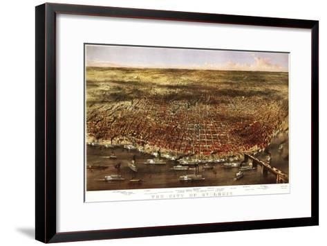 Saint Louis, Missouri - Panoramic Map-Lantern Press-Framed Art Print