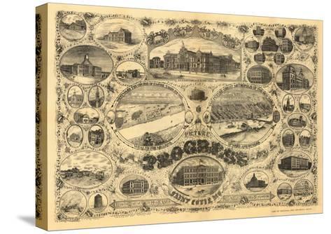 Saint Louis, Missouri - Panoramic Map-Lantern Press-Stretched Canvas Print
