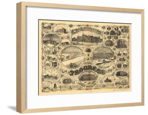 Saint Louis, Missouri - Panoramic Map-Lantern Press-Framed Art Print