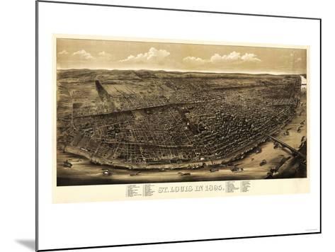 Saint Louis, Missouri - Panoramic Map-Lantern Press-Mounted Art Print