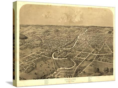 Ypsilanti, Michigan - Panoramic Map-Lantern Press-Stretched Canvas Print