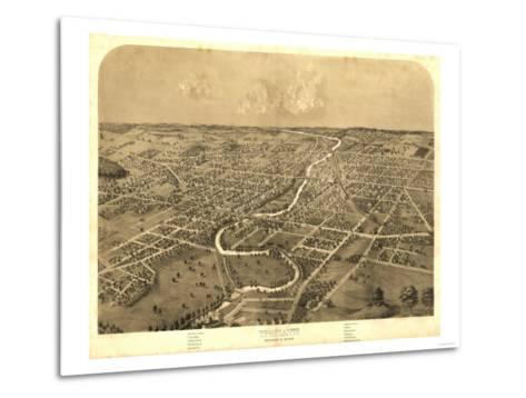 Ypsilanti, Michigan - Panoramic Map-Lantern Press-Metal Print