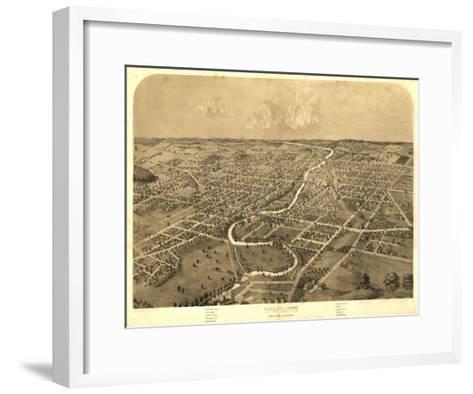 Ypsilanti, Michigan - Panoramic Map-Lantern Press-Framed Art Print