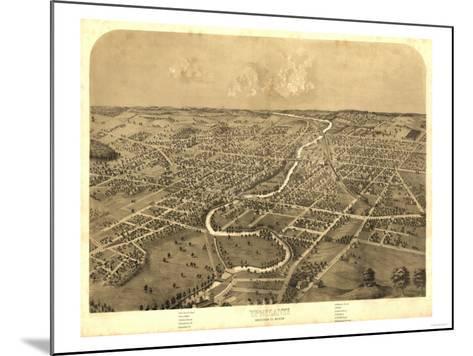 Ypsilanti, Michigan - Panoramic Map-Lantern Press-Mounted Art Print