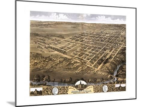Shelbyville, Illinois - Panoramic Map-Lantern Press-Mounted Art Print