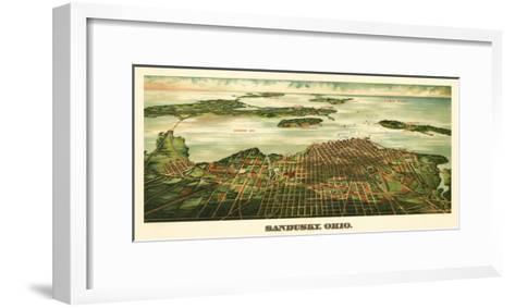 Sandusky, Ohio - Panoramic Map-Lantern Press-Framed Art Print