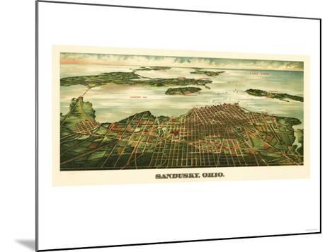 Sandusky, Ohio - Panoramic Map-Lantern Press-Mounted Art Print