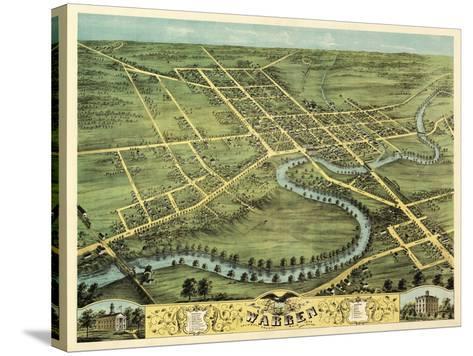 Warren, Ohio - Panoramic Map-Lantern Press-Stretched Canvas Print