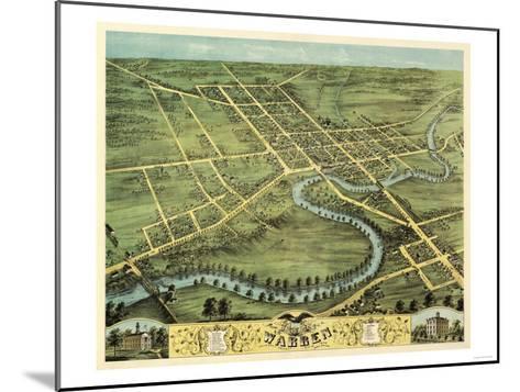 Warren, Ohio - Panoramic Map-Lantern Press-Mounted Art Print
