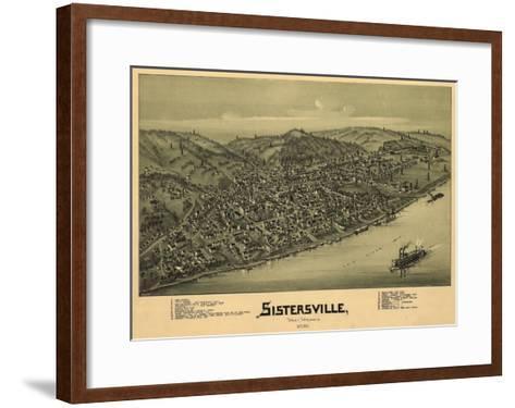 Sistersville, West Virginia - Panoramic Map-Lantern Press-Framed Art Print