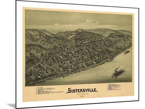 Sistersville, West Virginia - Panoramic Map-Lantern Press-Mounted Art Print