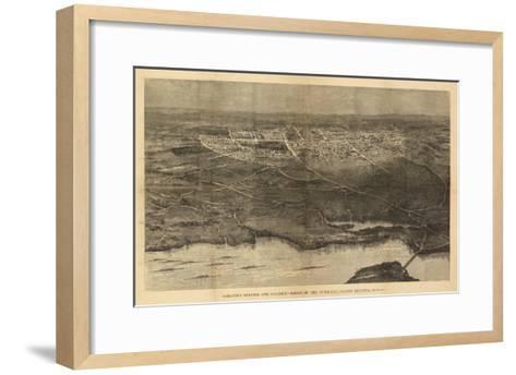 Saratoga Springs, New York - Panoramic Map-Lantern Press-Framed Art Print