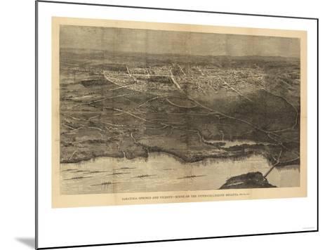 Saratoga Springs, New York - Panoramic Map-Lantern Press-Mounted Art Print