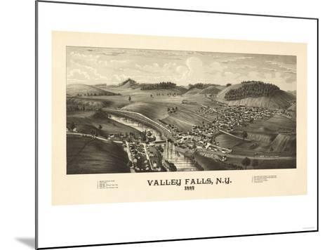 Valley Falls, New York - Panoramic Map-Lantern Press-Mounted Art Print