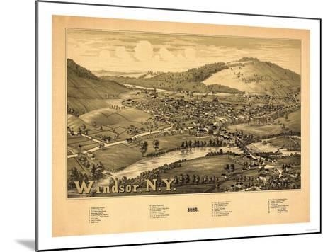 Windsor, New York - Panoramic Map-Lantern Press-Mounted Art Print