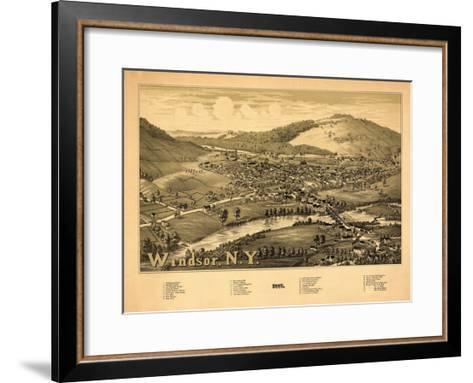 Windsor, New York - Panoramic Map-Lantern Press-Framed Art Print