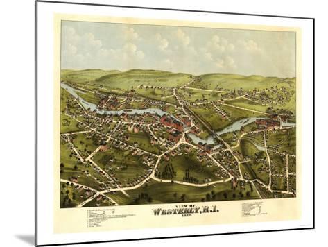 Westerly, Rhode Island - Panoramic Map-Lantern Press-Mounted Art Print