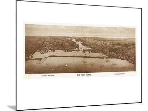 Superior-Duluth, Wisconsin - Panoramic Map-Lantern Press-Mounted Art Print