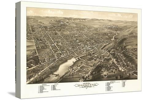 Waukesha, Wisconsin - Panoramic Map-Lantern Press-Stretched Canvas Print