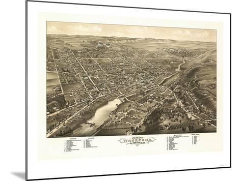 Waukesha, Wisconsin - Panoramic Map-Lantern Press-Mounted Art Print