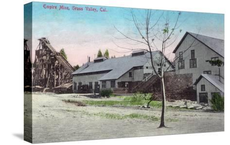 Exterior View of the Empire Mine - Grass Valley, CA-Lantern Press-Stretched Canvas Print
