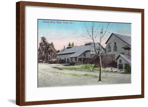 Exterior View of the Empire Mine - Grass Valley, CA-Lantern Press-Framed Art Print