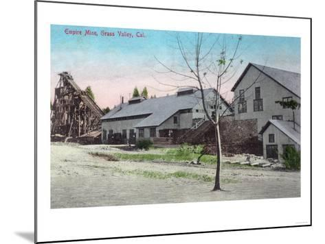 Exterior View of the Empire Mine - Grass Valley, CA-Lantern Press-Mounted Art Print
