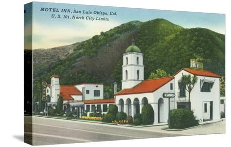 Exterior View of the Motel Inn - San Luis Obispo, CA-Lantern Press-Stretched Canvas Print