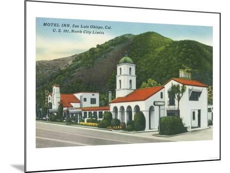 Exterior View of the Motel Inn - San Luis Obispo, CA-Lantern Press-Mounted Art Print