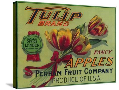 Lynden, Washington - Tulip Apple Crate Label-Lantern Press-Stretched Canvas Print