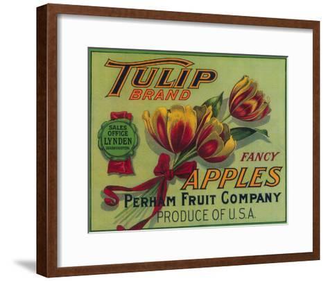 Lynden, Washington - Tulip Apple Crate Label-Lantern Press-Framed Art Print