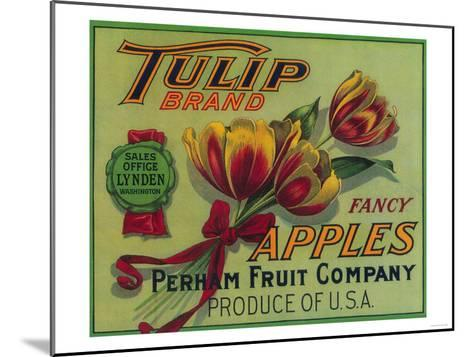 Lynden, Washington - Tulip Apple Crate Label-Lantern Press-Mounted Art Print