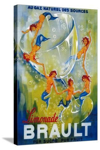 Limonade Brault Vintage Poster - Europe-Lantern Press-Stretched Canvas Print