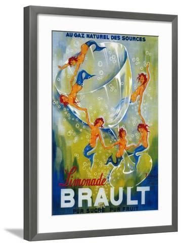 Limonade Brault Vintage Poster - Europe-Lantern Press-Framed Art Print