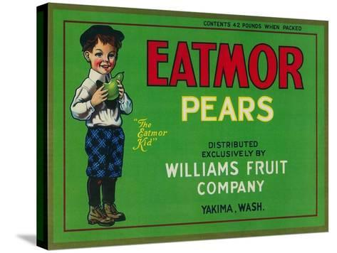 Eatmor Pear Crate Label - Yakima, WA-Lantern Press-Stretched Canvas Print
