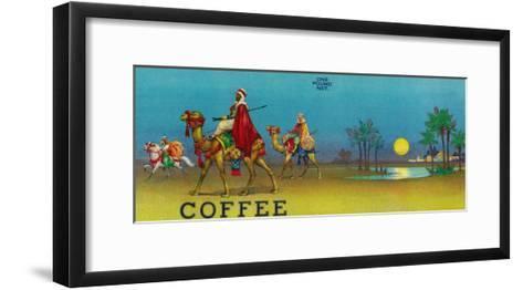 Desert Scene Coffee Label-Lantern Press-Framed Art Print
