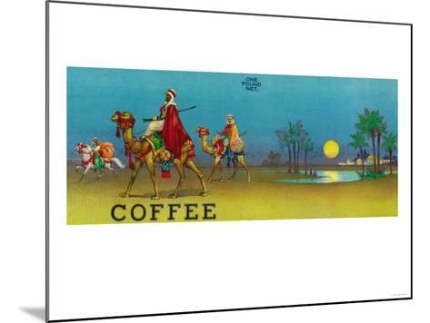 Desert Scene Coffee Label-Lantern Press-Mounted Art Print