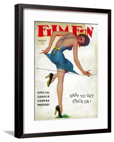 Film Fun Magazine Cover-Lantern Press-Framed Art Print