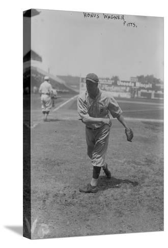 Honus Wagner Pittsburgh Pirates Baseball Photograph - Pittsburgh, PA-Lantern Press-Stretched Canvas Print
