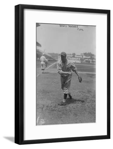 Honus Wagner Pittsburgh Pirates Baseball Photograph - Pittsburgh, PA-Lantern Press-Framed Art Print