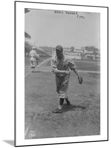 Honus Wagner Pittsburgh Pirates Baseball Photograph - Pittsburgh, PA-Lantern Press-Mounted Art Print