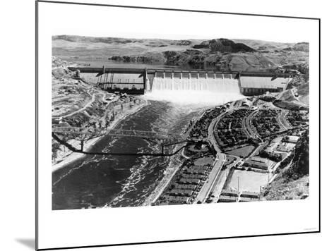 Grand Coulee Dam View from Air Photograph - Grand Coulee, WA-Lantern Press-Mounted Art Print