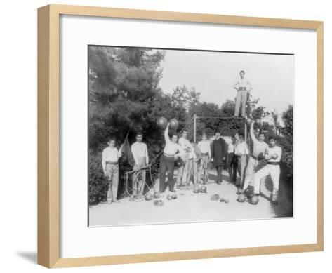Gymnastic Exercises in Istanbul Photograph - Istanbul, Turkey-Lantern Press-Framed Art Print