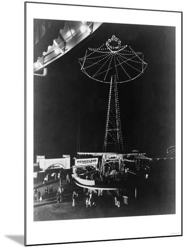 Glen Echo Amusement Park in Maryland Photograph - Maryland-Lantern Press-Mounted Art Print