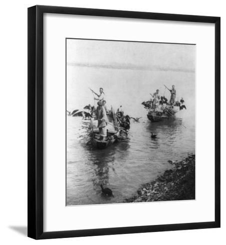 Fishing in Grand Canal in Soo-chow China Photograph - Soo-chow, China-Lantern Press-Framed Art Print
