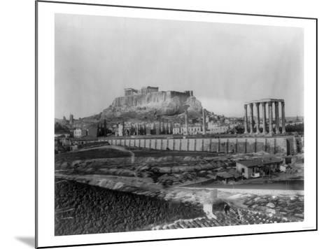 Distant View of the Parthenon in Athens Photograph - Athens, Greece-Lantern Press-Mounted Art Print