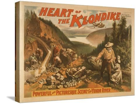 Heart of the Klondike Gold Mining Theatre Poster No.2-Lantern Press-Stretched Canvas Print
