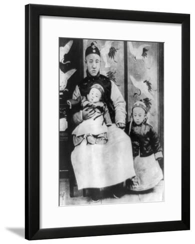 Emperor Pu Yi with Father and Brother Photograph - China-Lantern Press-Framed Art Print