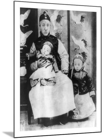 Emperor Pu Yi with Father and Brother Photograph - China-Lantern Press-Mounted Art Print
